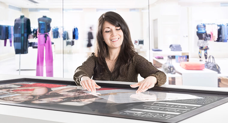 Digital signage examples: Multitouch